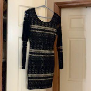Black dress with flesh lining ! Never worn !